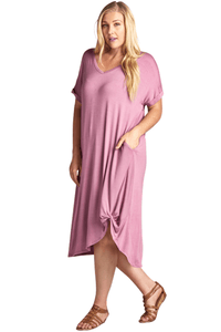 plus size T-Shirt Dress aa. Alexis Dress - Pink