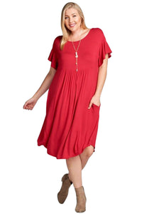 plus size T-Shirt Dress aa. Poppy Dress