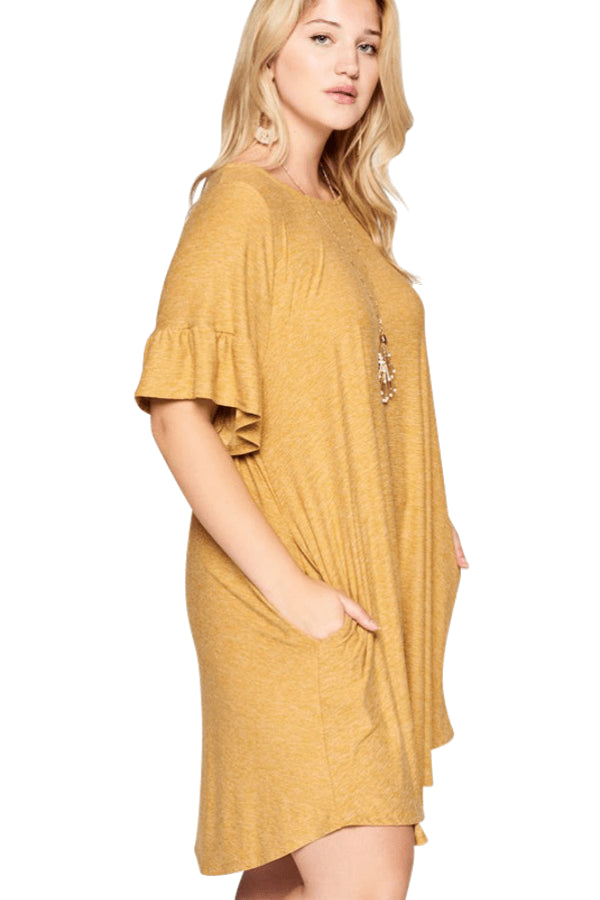 plus size T-Shirt Dress aa. Savannah Dress