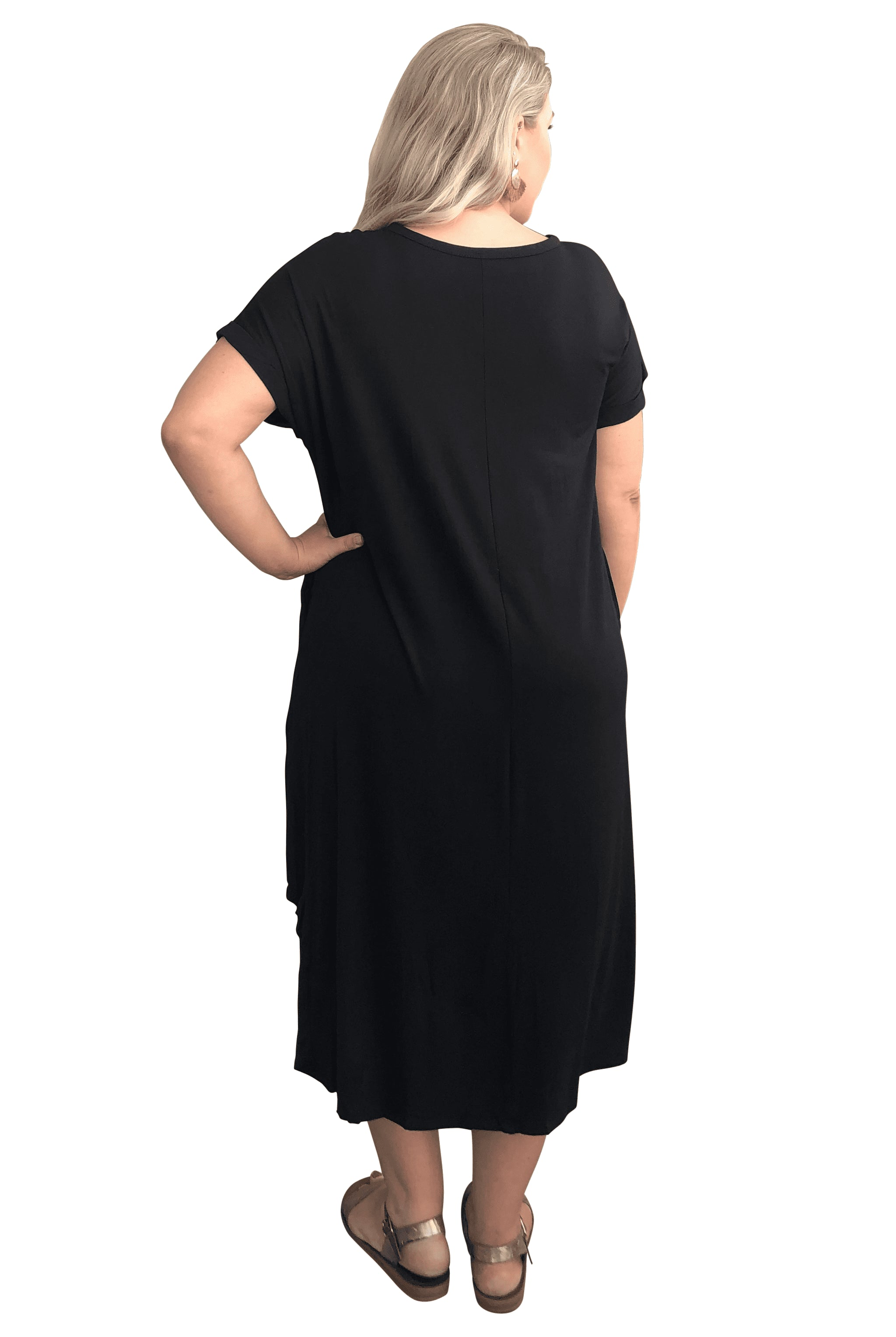plus size T-Shirt Dress XL / AUS 14 - 16 Alexis Dress - Black