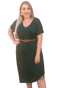 plus size T-Shirt Dress XL / AUS 14 - 16 Alexis Dress - Green