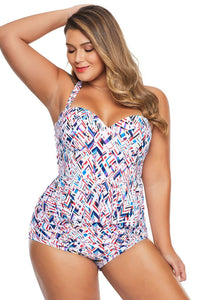 plus size Two Piece aa. Airlie Peplum Tankini Set