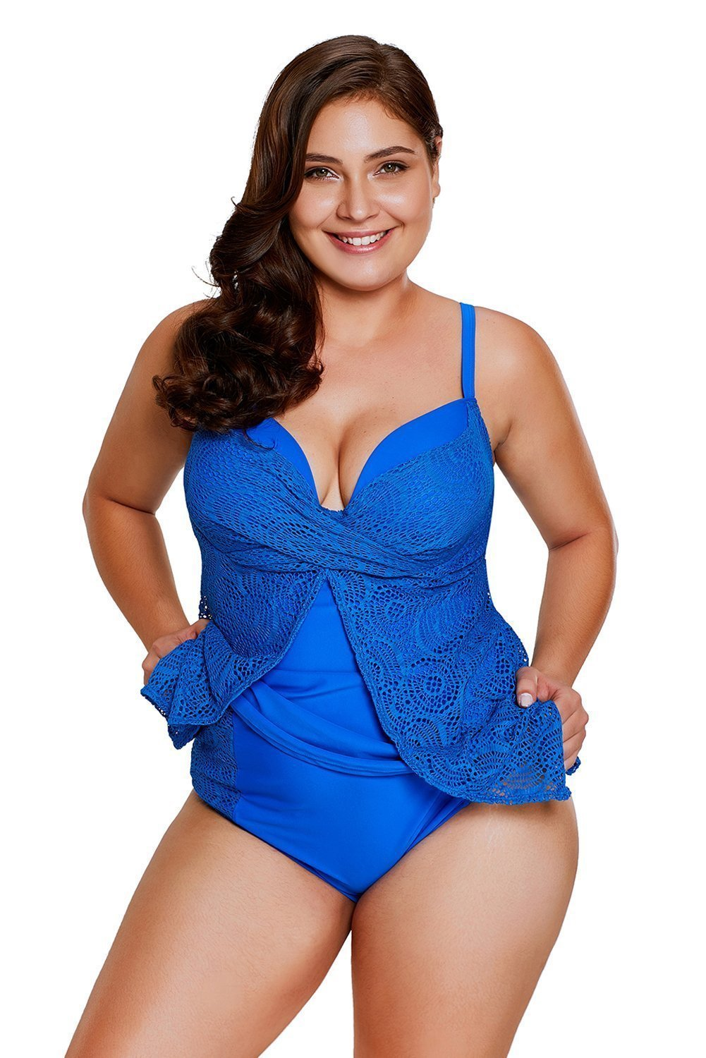 plus size Two Piece Blue / L / AUS 14 - 16 Sierra Tankini Set - Blue