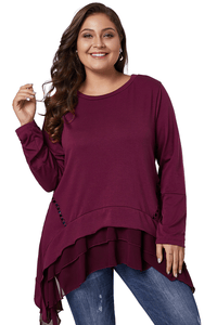 plus size XL / Burgendy Red aa. Daphne Top