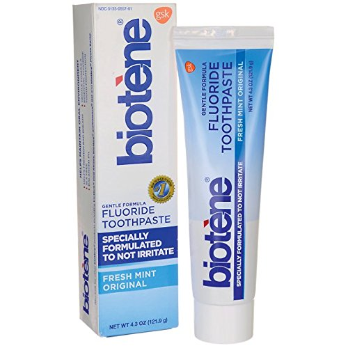 Biotene Gentle Formula Flouride Toothpaste - For Dry Mouth During Cancer Treatment - 121 gms