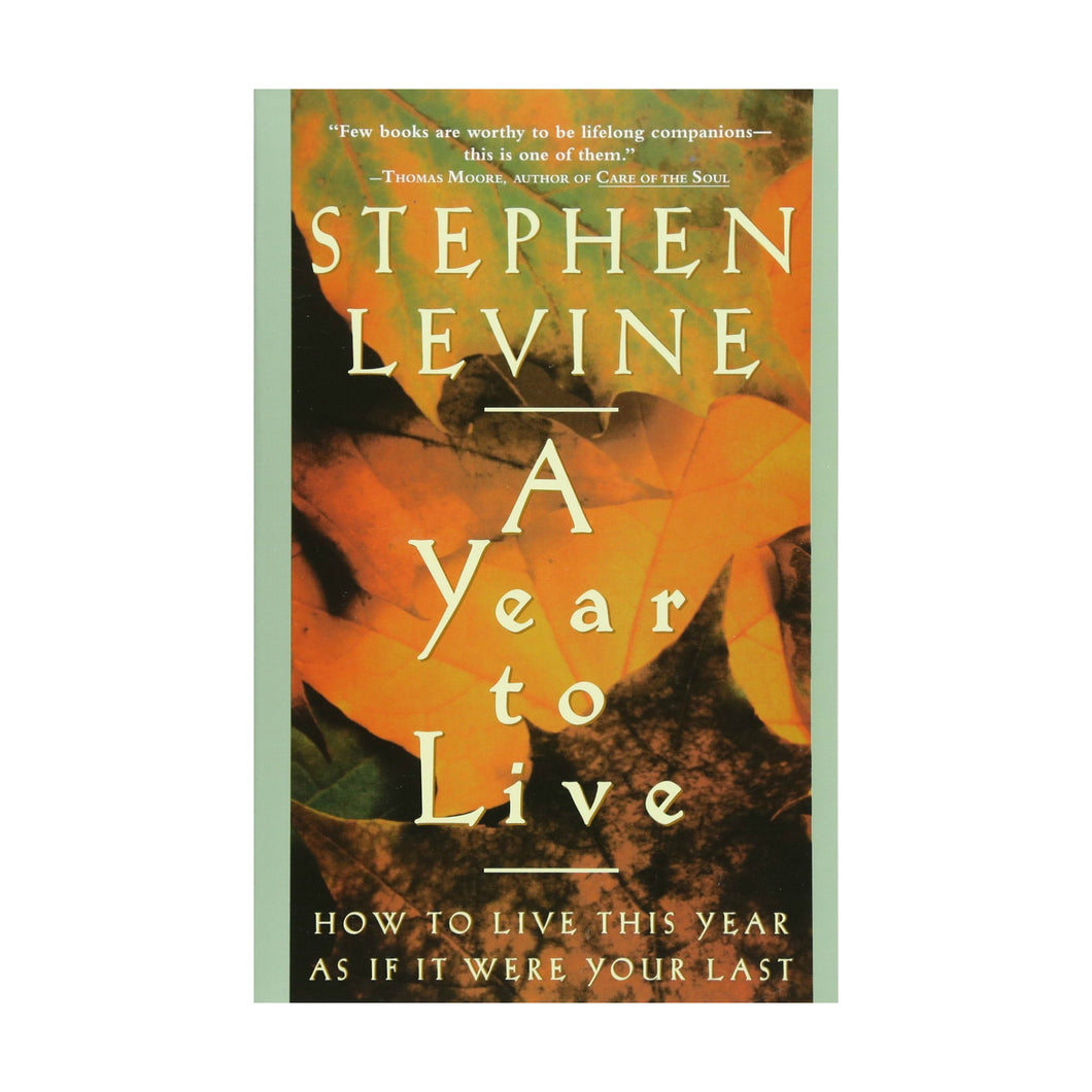 A Year to Live: How to Live This Year as If It Were Your Last, by Stephen Levine