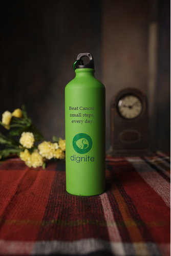 Beat Cancer - Dignite Water Bottle - Gift For Cancer Patients