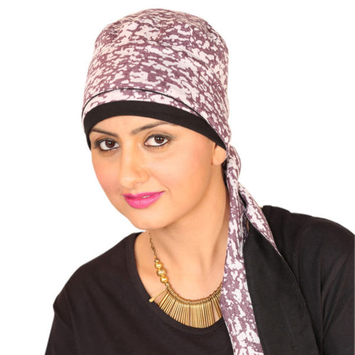 Chemo Cap, Pure Cotton Long Tail Headwrap
