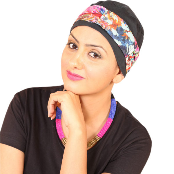 Chemo Cap With A Stylish Silk Band