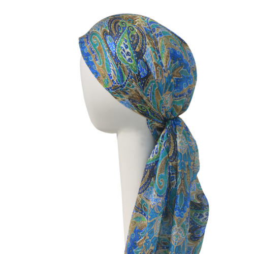 Chemo Silk Square Headscarf - 100% Silk