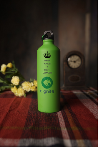 KEEP CALM & FIGHT CANCER - Dignite Water Bottle - Gift For Cancer Patients