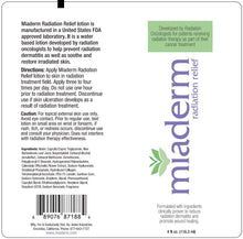 Miaderm Radiation Relief Cream - 118.3 ml