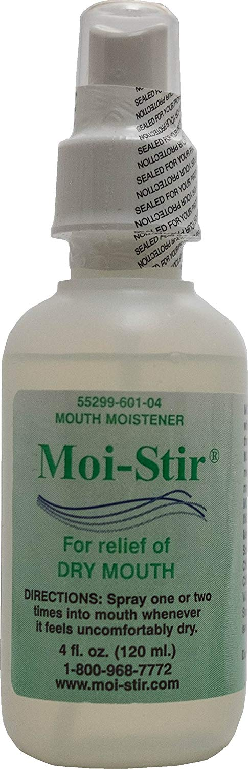 Moi-Stir Artificial Saliva - Oral Moistener for Dry Mouth - 120 ml