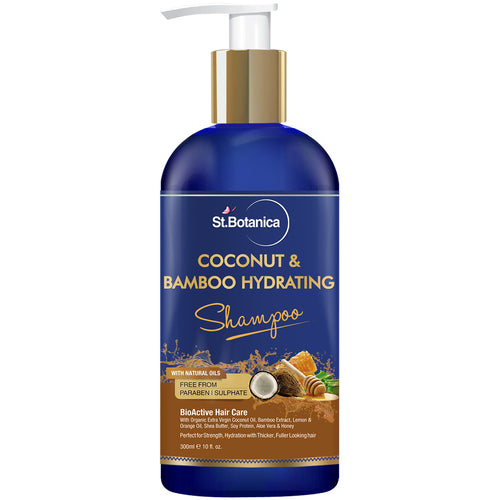 StBotanica Coconut Oil & Bamboo Hair Strengthening Shampoo – 300ml – No Sulphate, No Parabens, No Silicon