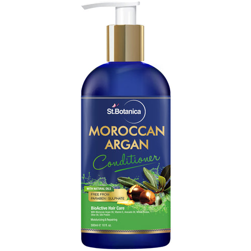 StBotanica Moroccan Argan Hair Conditioner 300ml – With Organic Argan Oil & Vitamin E (No Sulphate, Paraben)