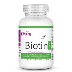 Zenith Nutrition Biotin Vitamin B7 - (10 mg - 60 Tablets)
