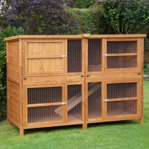 Best outdoor wooden cage for guinea pigs 6ft Chartwell Double Luxury Guinea Pig Rabbit Hutch kavee blog uk
