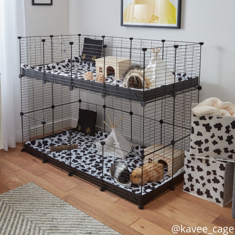 Kavee two tiered 4x2 double stacked c and c cage for 2 pairs of guinea pigs kavee blog uk