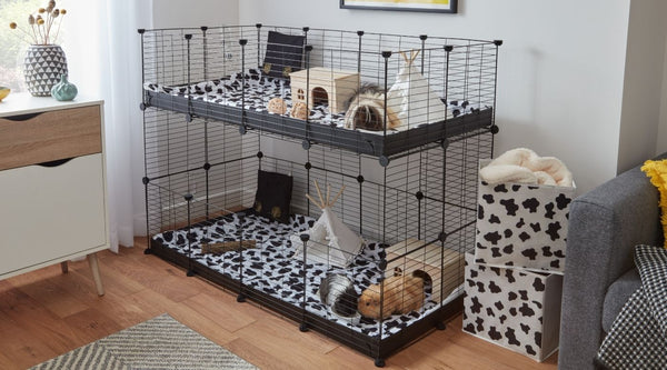 4x2 double stacked tiered C&C cage for guinea pigs