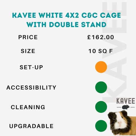 Kavee 4x2 C and C cage with double stand kavee blog uk
