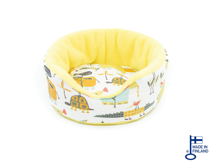 guinea pig accessory sofa bed cuddle cup fleece yellow handmade kavee c&c cage