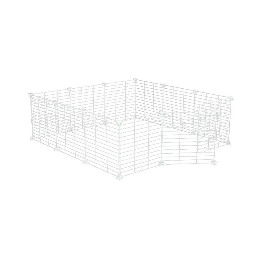 a 3x3 outdoor modular playpen with baby proof C and C white C and C grids for guinea pigs or Rabbits by brand kavee