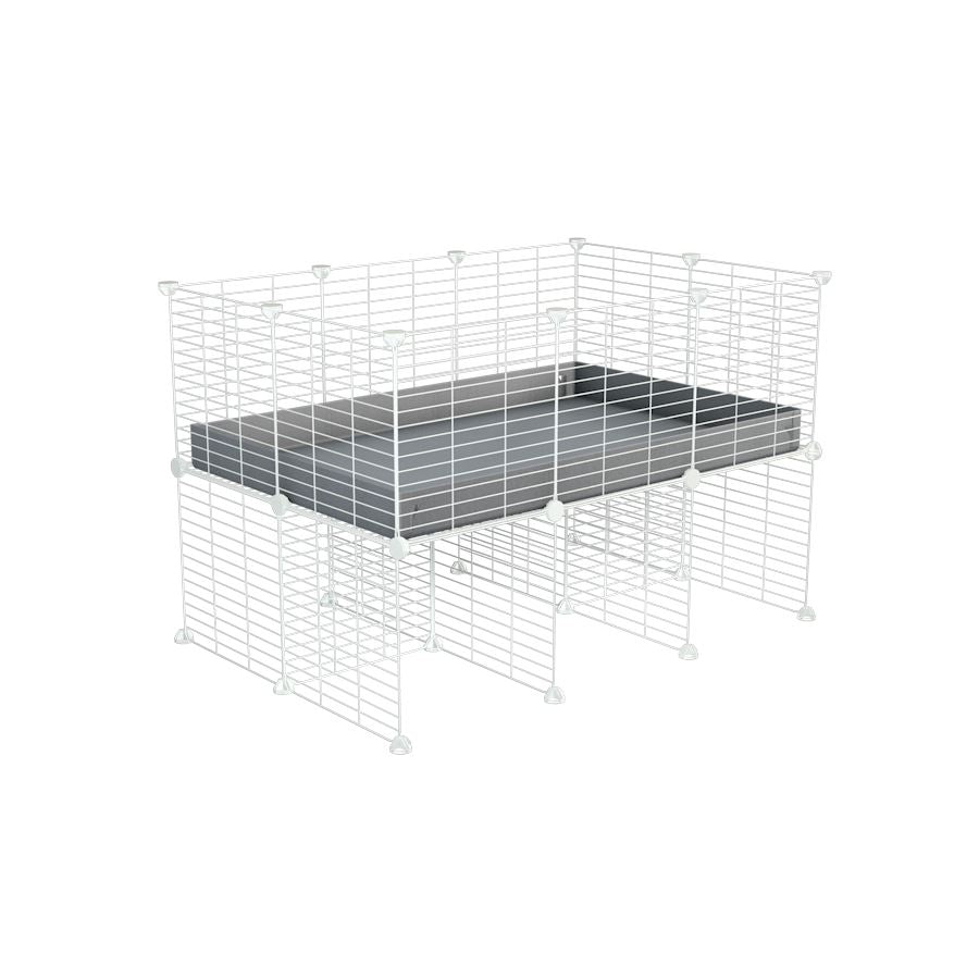 a 3x2 CC cage for guinea pigs with a stand grey correx and 9x9 white C and C grids sold in Uk by kavee