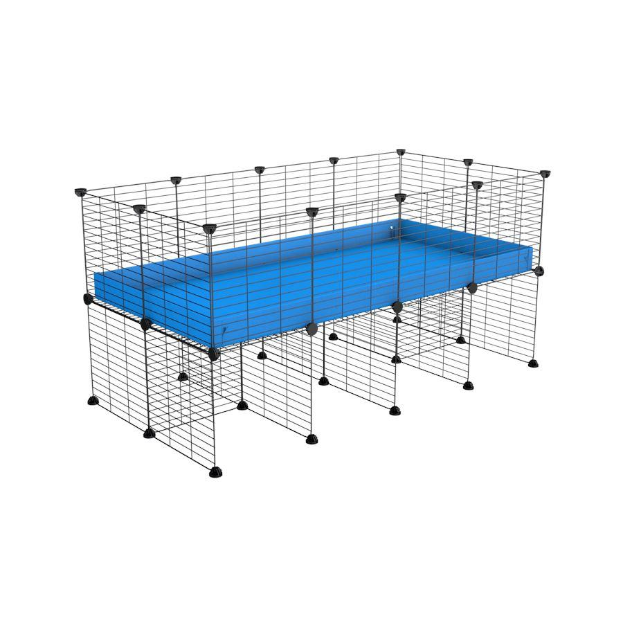 a 4x2 CC cage for guinea pigs with a stand blue correx and 9x9 grids sold in Uk by kavee