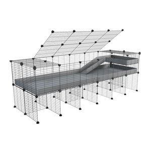 a 2x6 C and C guinea pig cage with stand loft ramp lid small size meshing safe grids grey correx sold in UK