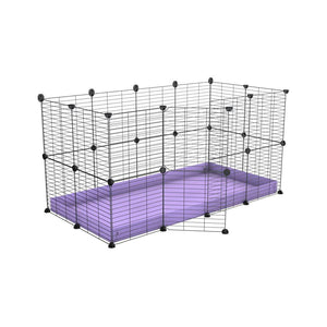 A 4x2 C&C rabbit cage with safe small meshing baby bars grids and purple coroplast by kavee UK