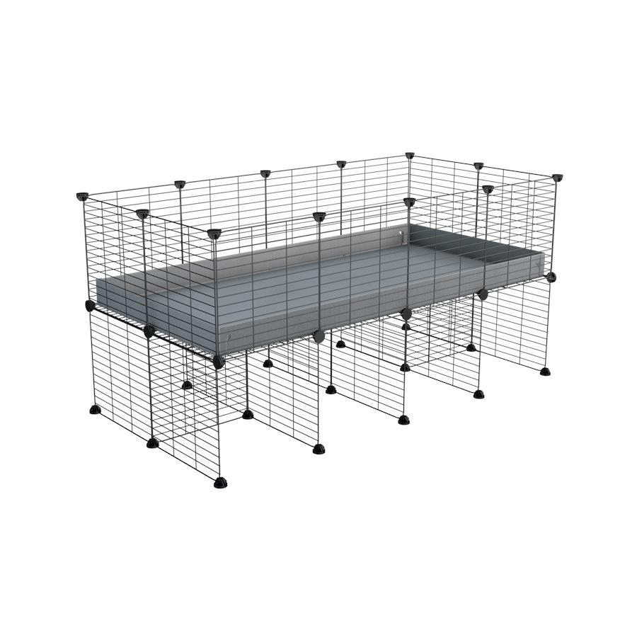 a 4x2 CC cage for guinea pigs with a stand grey correx and 9x9 grids sold in Uk by kavee