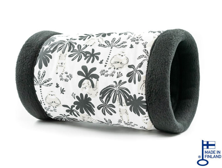 guinea pig accessory tunnel fleece black white kavee handmade c&c cage