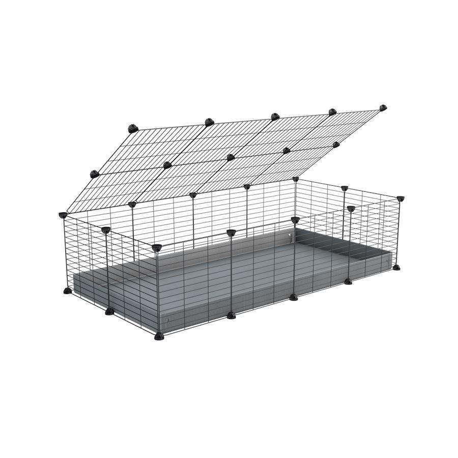 A 2x4 C and C cage for guinea pigs with grey coroplast a lid and small hole grids from brand kavee