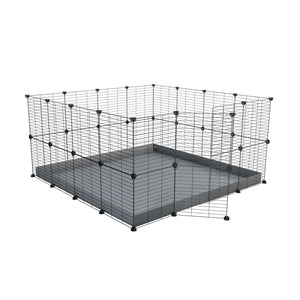 A 4x4 C&C rabbit cage with safe small meshing baby bars grids and grey coroplast by kavee UK