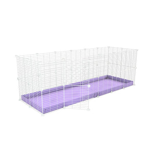 A 6x2 C and C rabbit cage with safe baby proof white CC grids purple coroplast by kavee UK