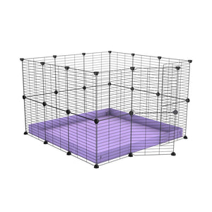 A 3x3 C and C rabbit cage with safe small size hole baby grids and purple coroplast by kavee UK