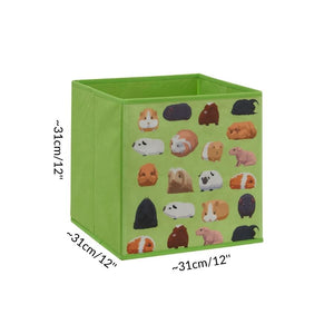 dimension size cube storage box for C&C cage kavee guinea pig pattern green UK