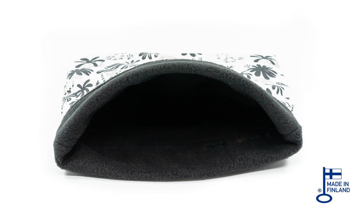 guinea pig accessory hideout sleep sack bed fleece black white handmade kavee c&c cage