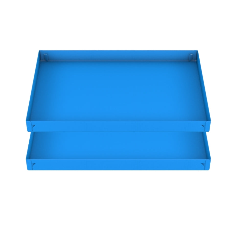 two blue coroplast sheets or corrugated cage base correx for guinea pig cage C&C 2x3 cc c and c from brand kavee