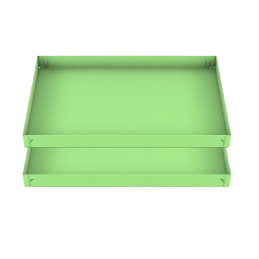 two green pistacchio coroplast sheets or correx size 3x2 for guinea pig cage C&C cc c and c from brand kavee