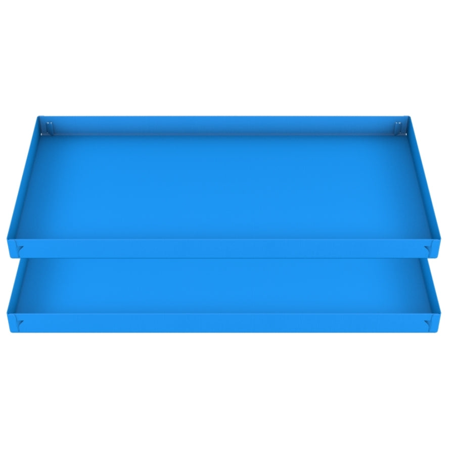 two blue coroplast sheets or corrugated cage base correx for guinea pig cage C&C 2x4 cc c and c from brand kavee