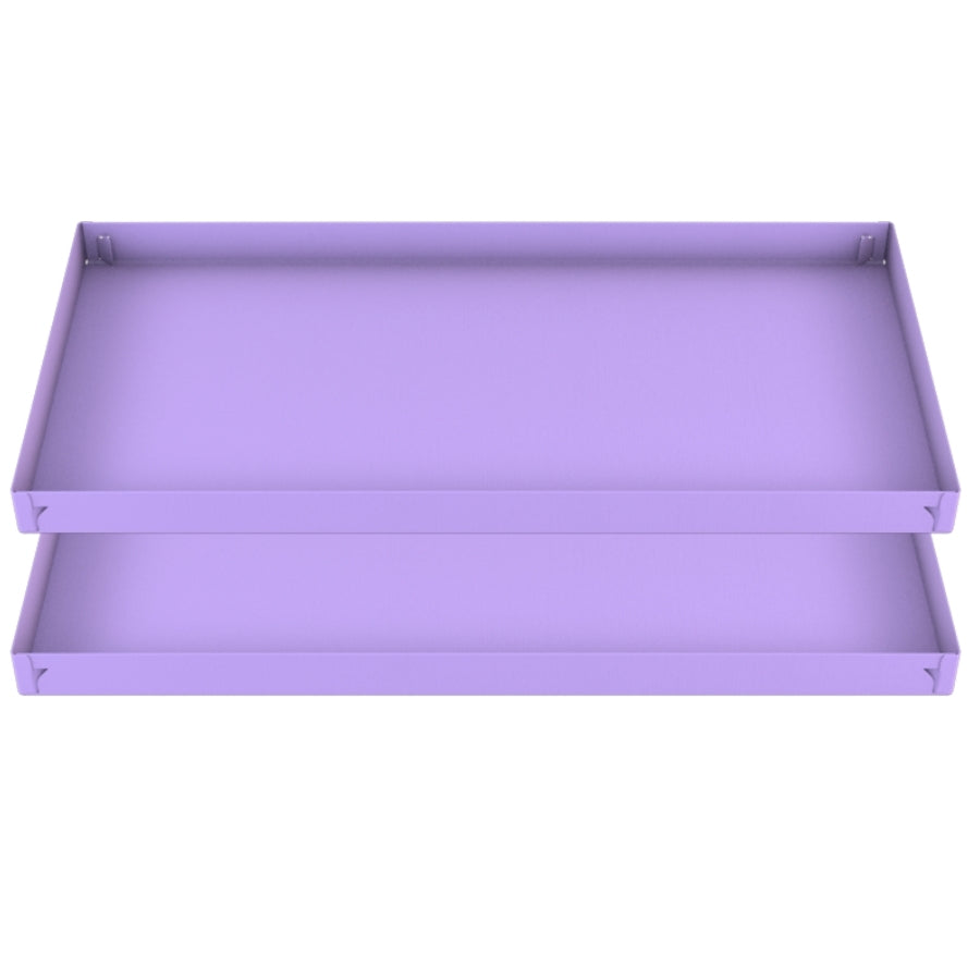 two 4x2 purple lilac pastel coroplast sheets or correx for guinea pig cage C&C cc c and c from brand kavee