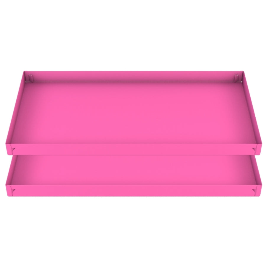 two 2x4 pink coroplast sheets or corrugated plastic correx for guinea pig cage C&C cc c and c from brand kavee