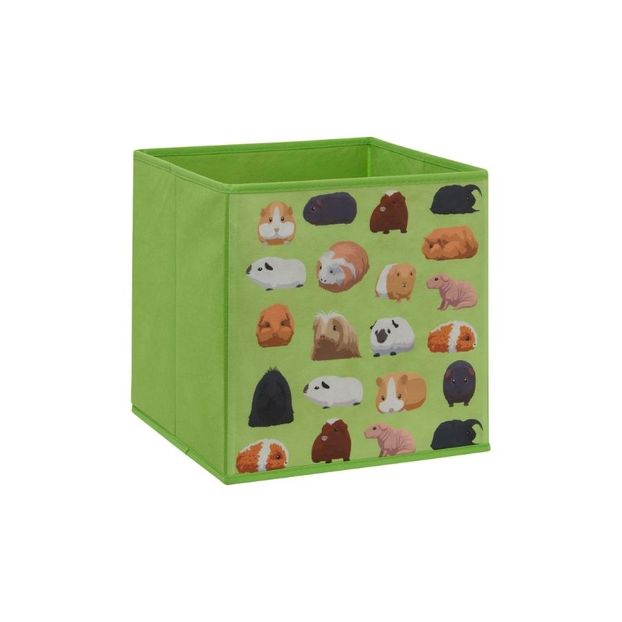cube storage box for C&C cage kavee guinea pig pattern green UK