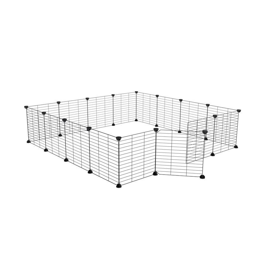 a 4x4 outdoor modular run with baby bars safe C&C grids for guinea pigs or Rabbits by brand kavee