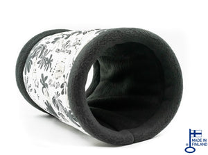 guinea pig accessory tunnel fleece black white kavee handmade c and c cage