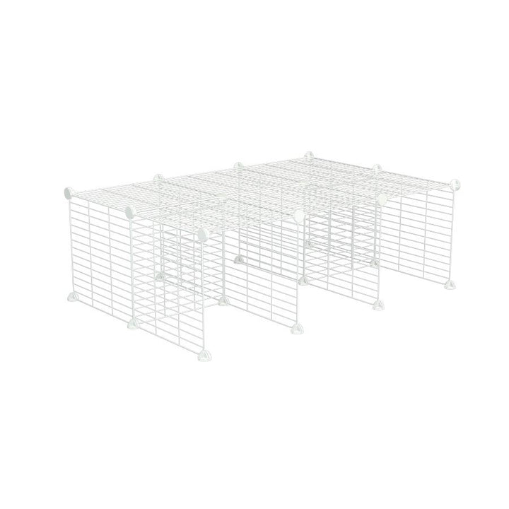 A C and C guinea pig cage stand size 4x2 with small mesh white C and C grids by kavee UK
