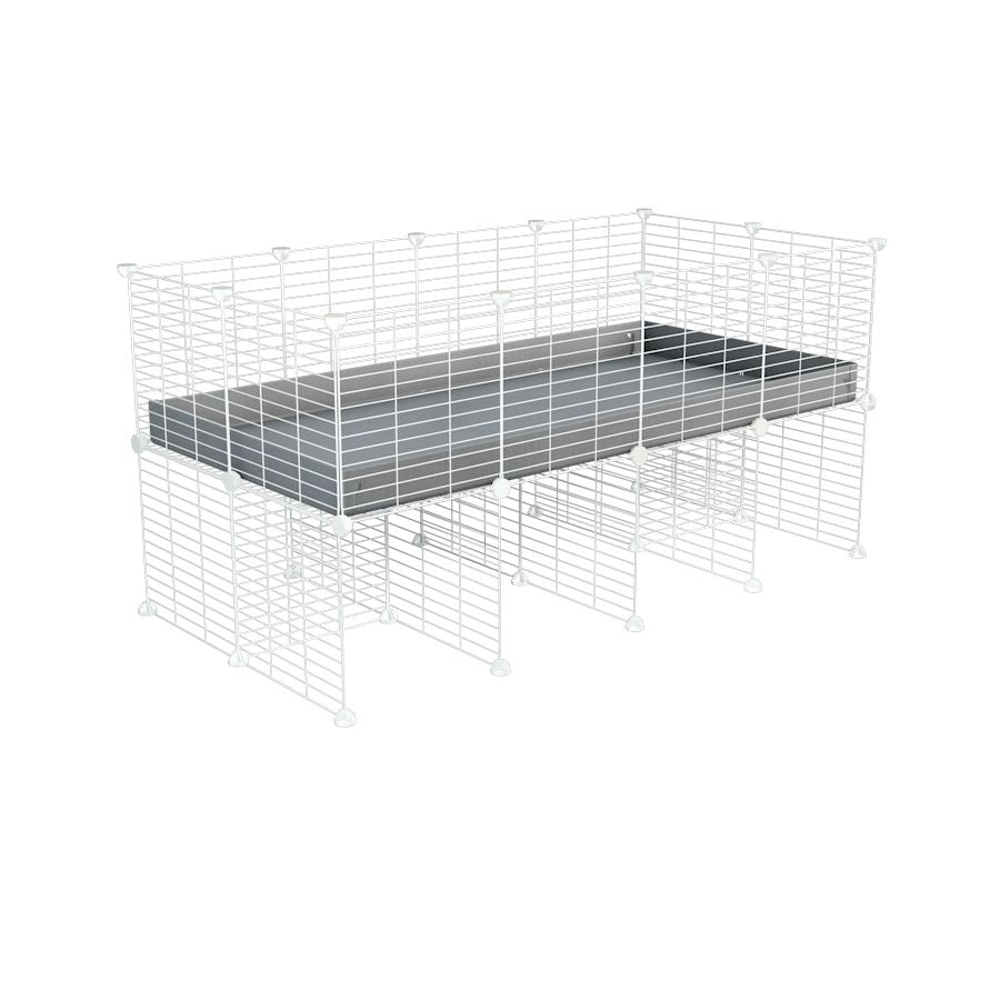 a 4x2 CC cage for guinea pigs with a stand grey correx and 9x9 white C&C grids sold in Uk by kavee
