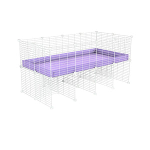 a 4x2 CC cage for guinea pigs with a stand purple lilac pastel correx and 9x9 white CC grids sold in Uk by kavee