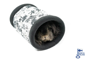 guinea pig accessory tunnel fleece black white kavee handmade cc grid cage